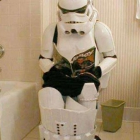 Star Wars Stormtrooper On Toilet