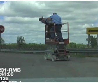 Drunk Arrested Driving A Scissor Lift