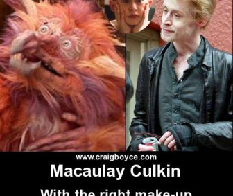 Macaulay Culkin - Make-up makes him almost human