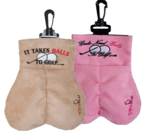 His and Hers It Takes Balls To Golf - Ball Caddy Sack