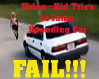 Kid &quot;Jumps&quot; Car