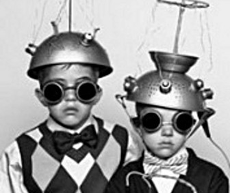 Boys Vintage Halloween Space Aliens