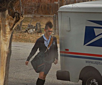 Post Punk - Mailman with Faux Hawk